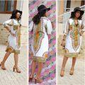2017 Новый Летний Dashiki Dress Африканский Tranditional Печати Старинные Женские Платья Народная Африки Плюс Размер Женская Одежда Vestidos