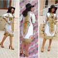 2017 New Summer Dashiki Dress African Tranditional Print Vintage Ladies Dresses Folk African Plus Size Women Clothing Vestidos