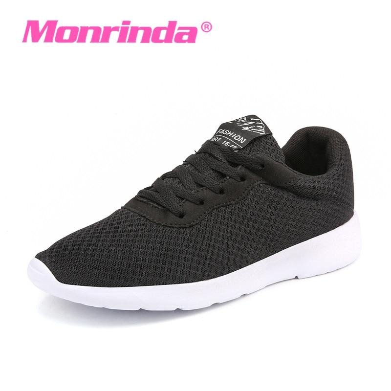 Monrinda Cheap Women Sneakers 2017 Summer Air Mesh Running Shoes For Men Lightweight Slip On Sneaker Good Quality
