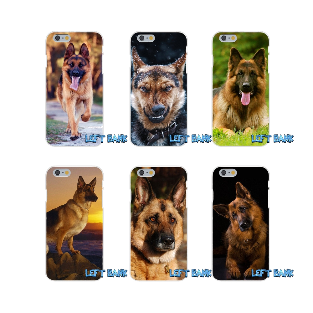 Funny German Shepherd Dog Puppy Slim Silicone Case For iPhone X 4 4S 5 5S 5C SE 6 6S 7 8 ...