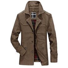 ФОТО winter jacket men outwear jacket casual mid long slim fit pockets epaulet trench coat outwear jacket for men jackets male coat
