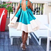Summer Spaghetti Strap Vintage Mini Dress Sexy Backless Beach Club Party 2019 African Style Women Casual Holiday Plus Size Dress