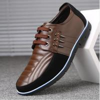 QWEDF Men genuine leather shoes High Quality Elastic band Fashion design Solid Tenacity Comfortable Men's shoes big sizes ZY 251