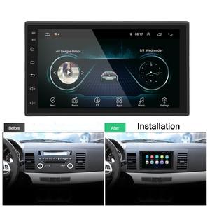 """Image 3 - Podofo 2 din автомобильное радио GPS Android Авторадио WiFi USB аудио 2din 7 """"сенсорный экран универсальный MP5 мультимедийные плееры Bluetooth FM"""