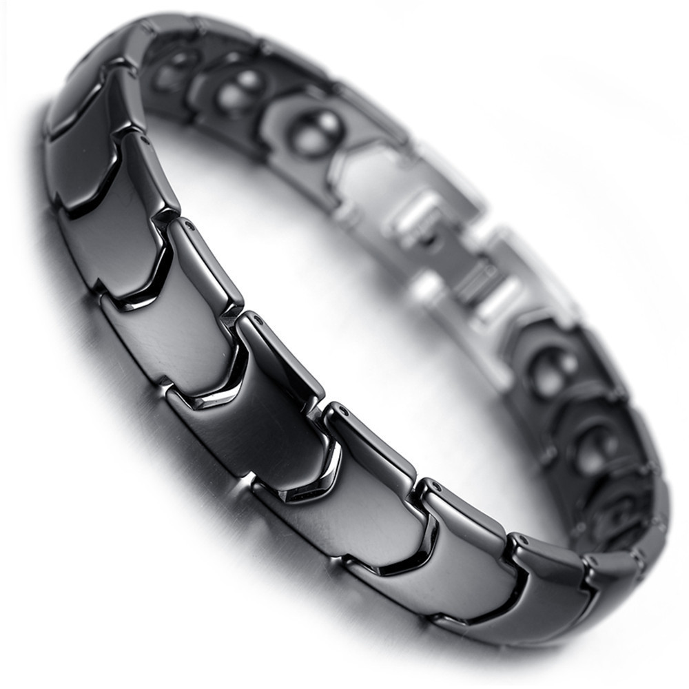 New Ceramic Jewelry Wide Black and White Health Bracelet Couple