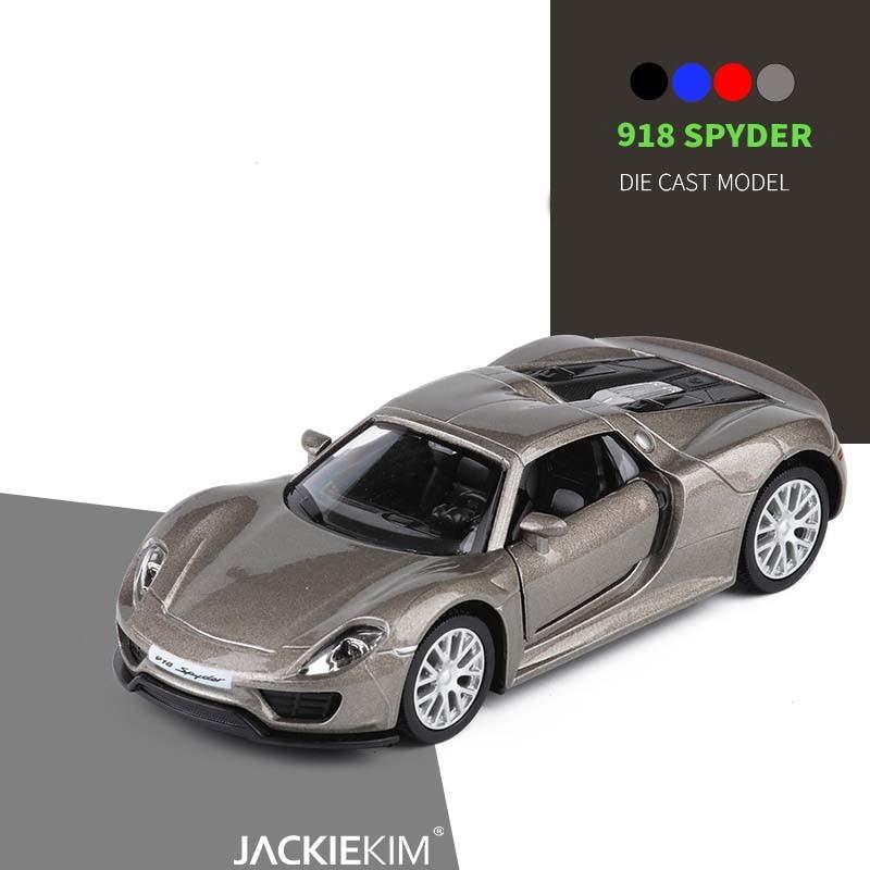 Contemporary Manufacture Diecast & Vehicles Porsche 918 Spyder Diecast Escala 1:32 De Metal Modelo Coche Deportivo Azul De Alta Calidad
