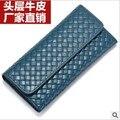 2014 women men fashion color solid hasp long design wallet female genuine leather holder purse ruble clutch necessaire lady gift