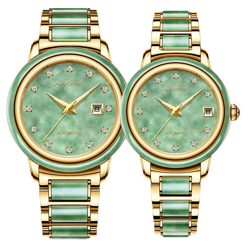 2020 Real New Jadeite Precision Steel Strap Hollow Watch For Men And Women