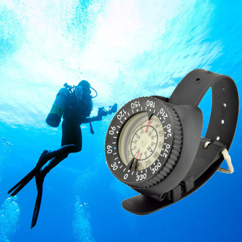 Outdoor diving compass waterproof digital <font><b>watch</b></font> navigation <font><b>deep</b></font> <font><b>Sea</b></font> exploring pointing guide northern hemisphere image