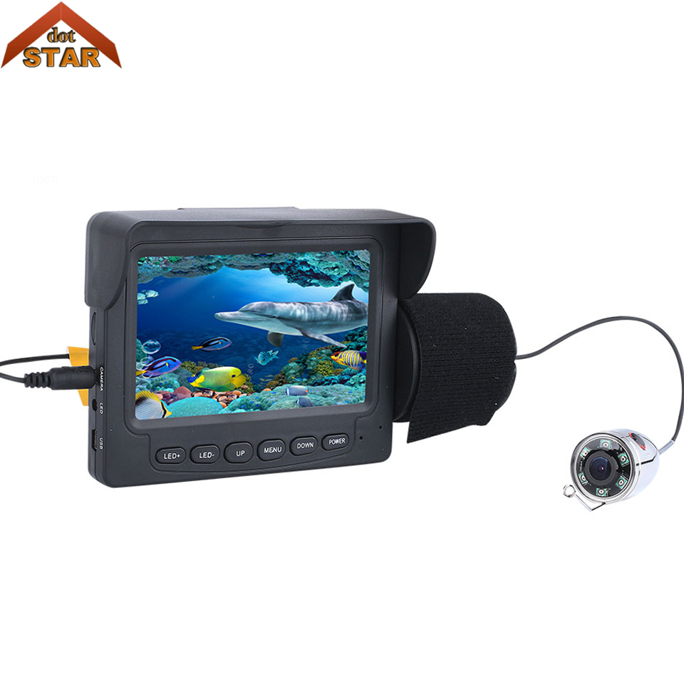 Stardot Fishing Camera Underwater Video Fish Finder 4.3 Inch Color Monitor Waterproof 6PCS White LED Underwater Fishing  Camera