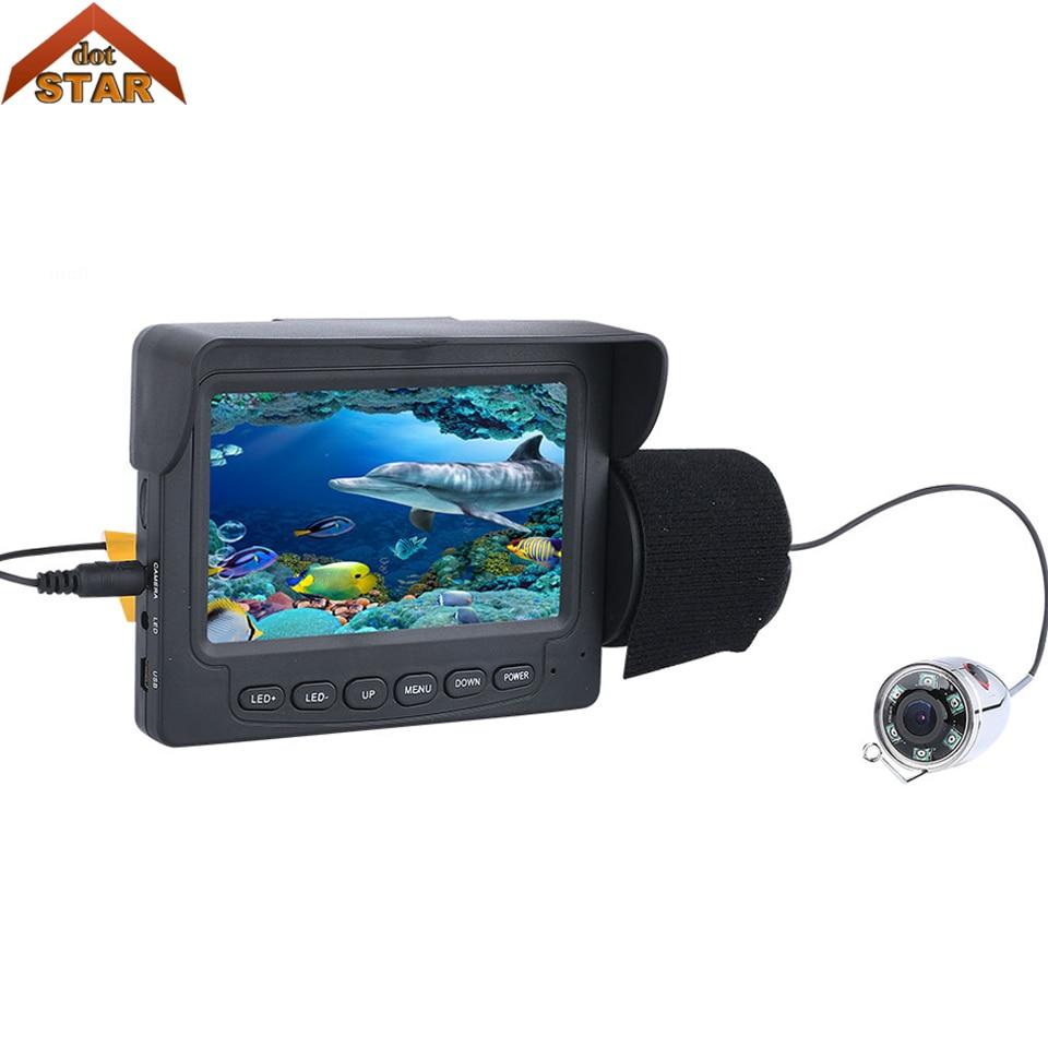 все цены на Stardot Fishing Camera Underwater Video Fish Finder 4.3 Inch Color Monitor Waterproof 6PCS White LED Underwater Fishing Camera онлайн