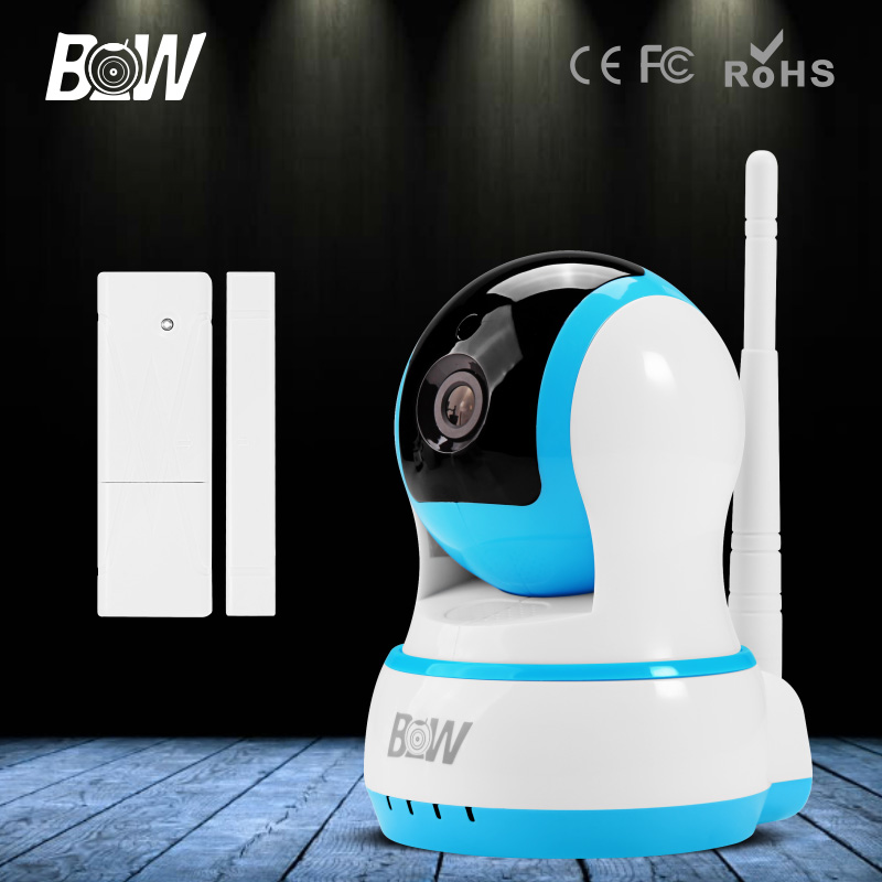 ФОТО BW Wifi IP Camera HD 720P Smart P2P Baby Monitor Infrared IR Wireless Surveillance Security Network CCTV Onvif with Door Sensor