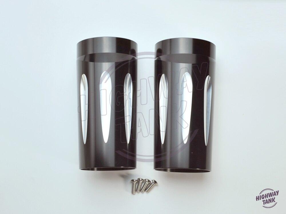 Черный ЧПУ алюминиевый верхней Вилка слайдер Крышка ролях чехол для Harley гастроли и Мотодельтаплан модели 1980-2013 Роуд Кинг Стрит Глайд