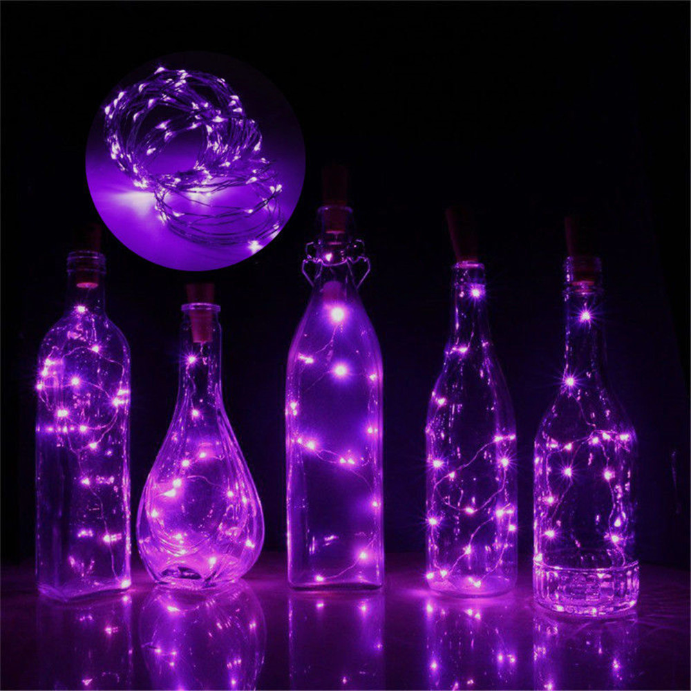 3 Meter 30 LED Wine Bottle String Lights Cork Shape For Wine Bottle String Party Romantic Wedding Party Decoration Lamps