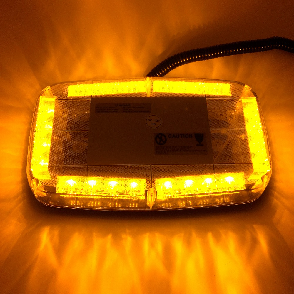 Car Vehicle Roof strobe Light 24 LED Emergency Warning flash Light Lamp LED flashing Strobe Lights with Magnetic Base