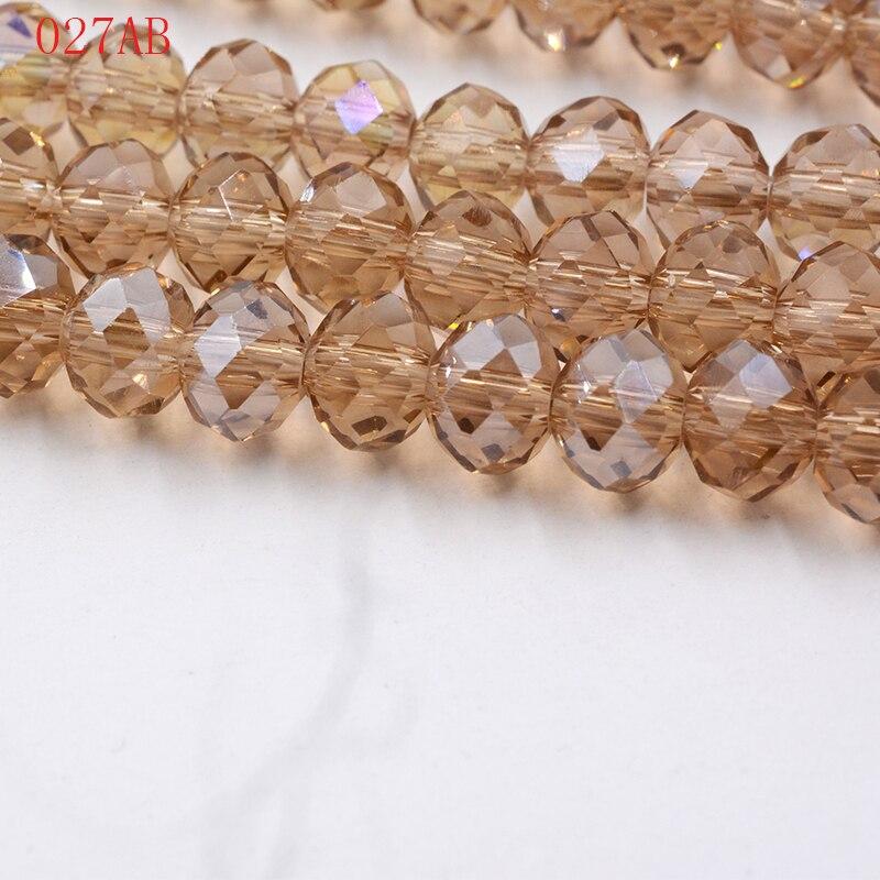 145pcs 4mm Crystal Rondelle Glass Beads DIY Jewellery Making For Bracelet Necklace Center Drilled 18 Color