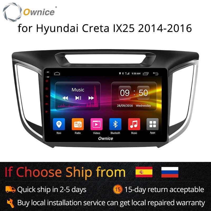 Ownice 8 K1 K2 Android 8.1 Octa Núcleo 2G/32G rádio do carro DVD Player GPS Navi Para HYUNDAI IX25 2014 2015 2016 Apoio bt 4G LTE