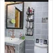 Запасы ванной стеллаж для хранения стеллаж для хранения кованого железа настенные полки ванная комната шельфа
