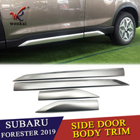2Pcs/Set Stainless Steel CAR FRONT+REAR BUMPERS PROTECTOR GUARD SKID PLATE FIT FOR Subaru Forester 2019 2020