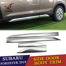 купить 2Pcs/Set Stainless Steel CAR FRONT+REAR BUMPERS PROTECTOR GUARD SKID PLATE FIT FOR Subaru Forester 2019 2020 по цене 5667.92 рублей