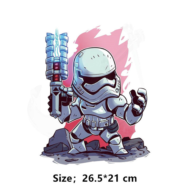 Hot star wars patches for clothing Cartoon children's DIY T-shirt