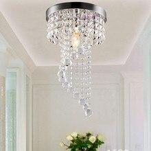 Высокое качество современный светодиодный k9 хрустальный потолочный светильник прихожей проход приспособление E14 лампа 90-220 V