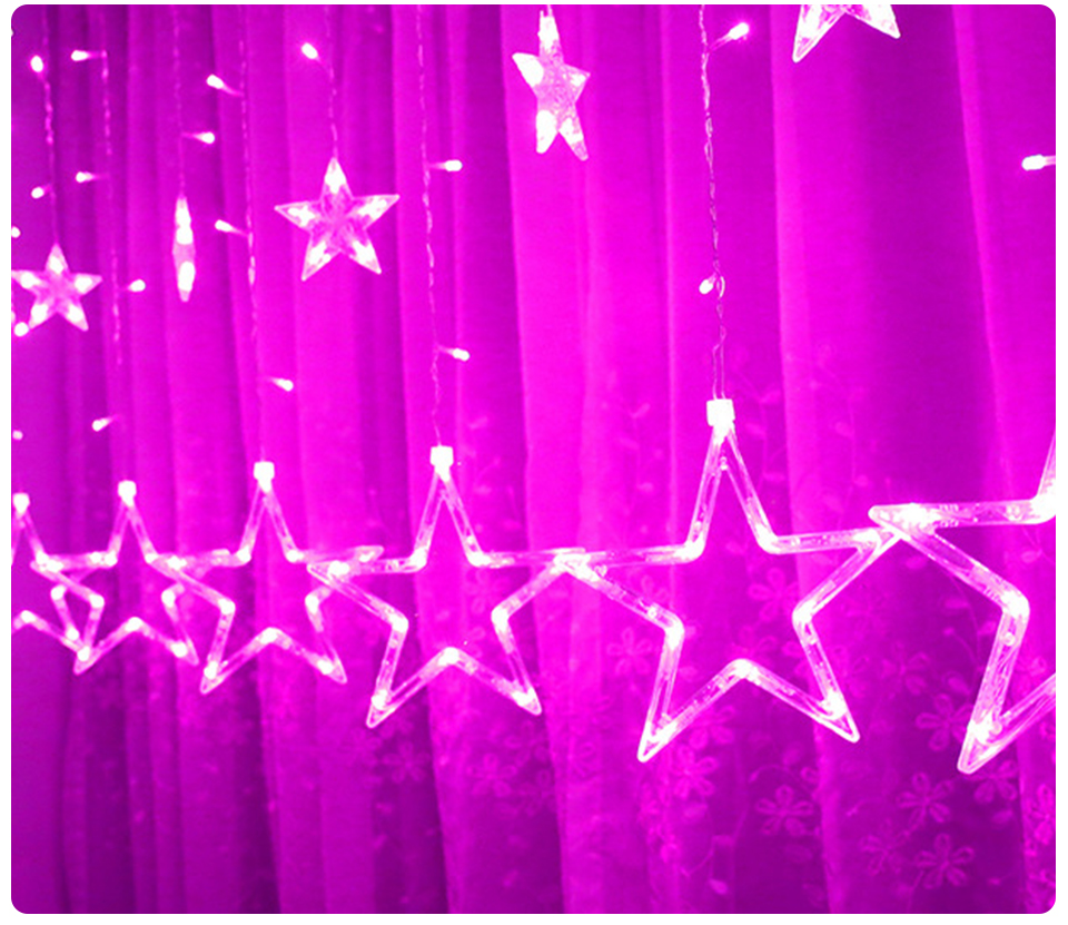 3M Christmas LED Lights 110V 220V Romantic Fairy Star LED Curtain String Lighting For Holiday Wedding Garland Party Decoration (13)