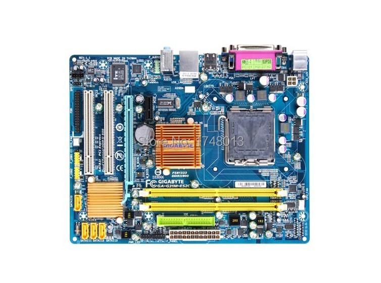 original motherboard for gigabyte GA-G31M-ES2C LGA 775 DDR2 G31M-ES2C 4GB Integrated G31 desktop motherboard Free shipping original for gigabyte ga ma720 us3 ddr2 am2 am2