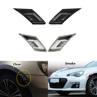 2x Smoke Clear Lens Amber white dual LED Side Marker Lights drl Signals For Scion FR S Subaru BRZ