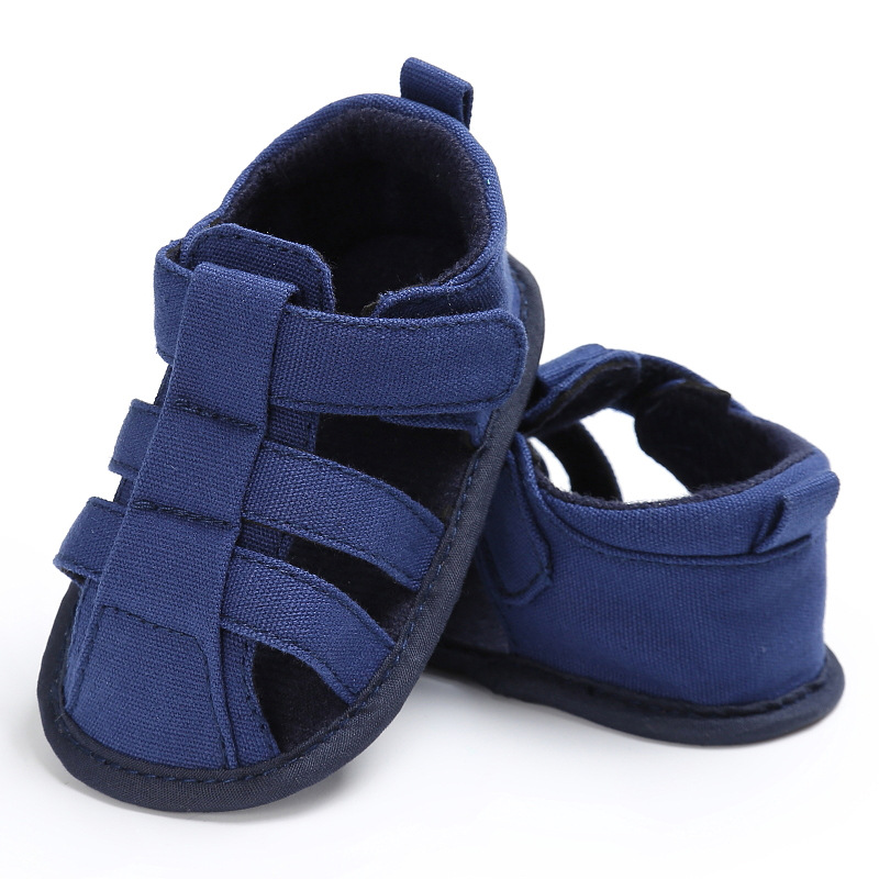 Hot sale Newborn Baby Kids sandals Summer First Walkers Classic sandals Solid Fashion Soft sole Anti-Slip Crib Bebe Shoe