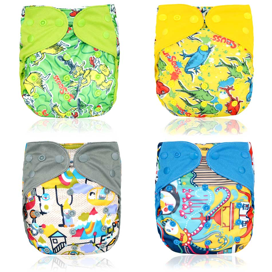 (13pcs/lot)Happy Flute OS Cloth Diaper Cover For Baby,with Or Without Bamboo Insert,waterproof Breathable S M& L Adjustable