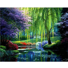 5D DIY Diamond Painting Landscape Cross Stitch Patterns Full Drill Resin Diamond Painting 40x30 kits for Embroidery with Beads
