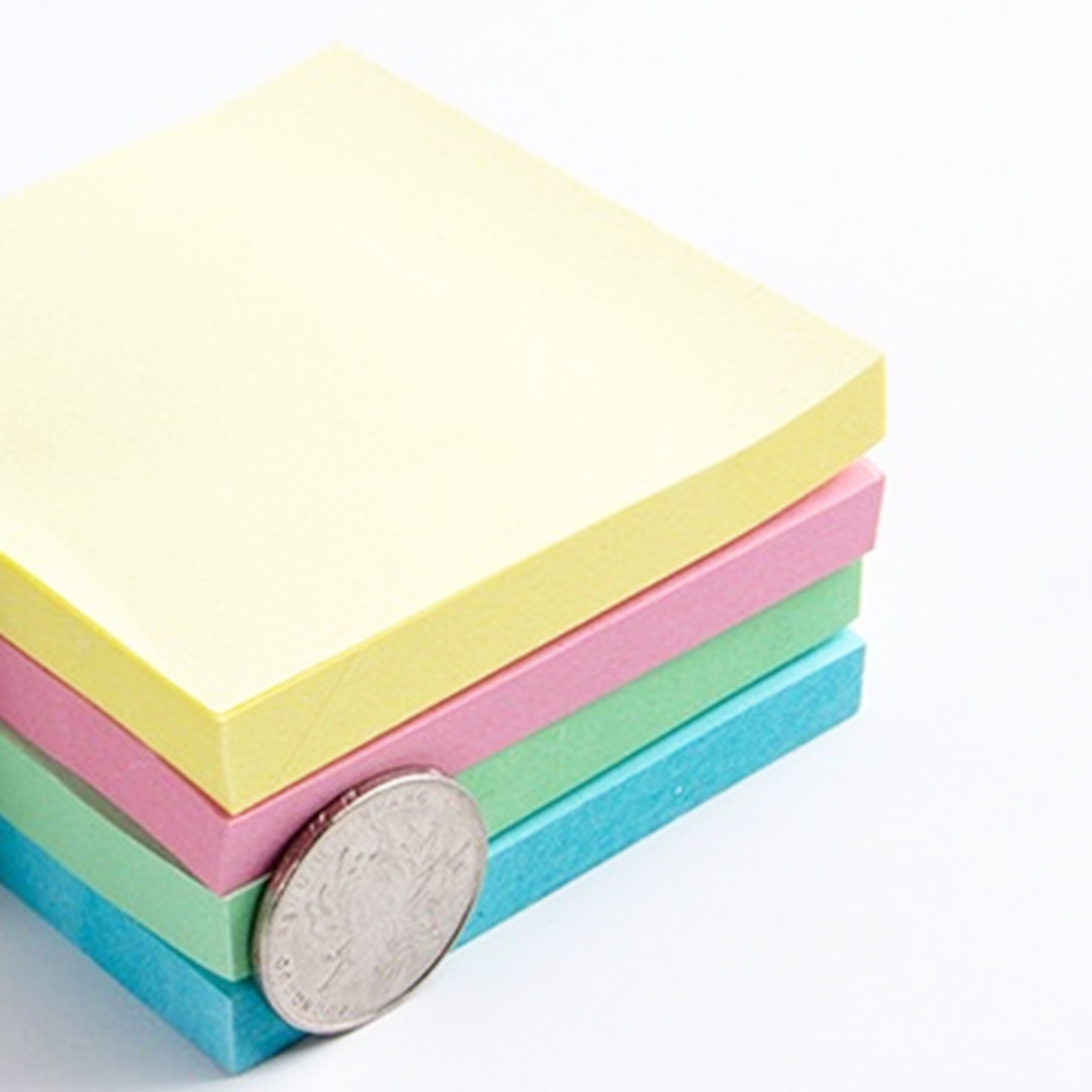 FangNymph Novelty Portable Macaron Color Sticky Note Office Accessories Adhesive Paper Post Memo Pad Stationery School Supplies