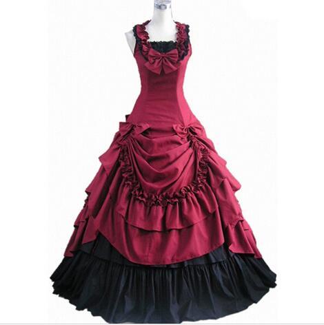 Femmes adulte sud victorien robe robe de bal gothique Lolita robe grande taille personnalisée - 6