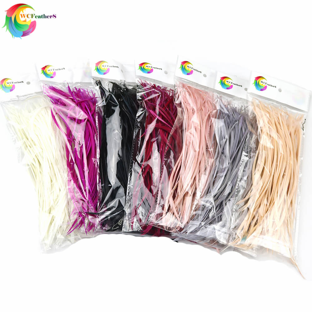 50PCS Colorful DIY Jewelry Headdress Extend Pruning  Goose Feather 6-8inch/15-20cm For Wedding Carnival Decor Elegant Feathers