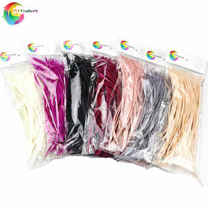 50PCS Colorful DIY Jewelry Headdress Extend Pruning Goose Feather 6-8inch/15-20cm For Wedding Carnival Decor Elegant Feathers(China)