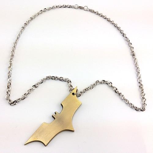 2016 Batman VS Superman movie Batman logo weapon darts Alloy 8.5X3CM pendant necklace cosplay anime accessory props necklace