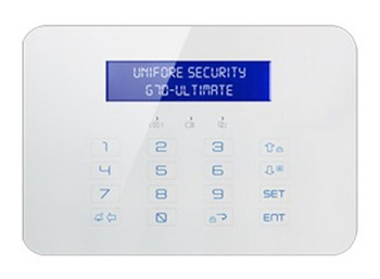 LCD Display Touch Keypad GSM+PSTN Alarm System
