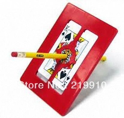 Free shipping Magic Frame-Pencil Through Card And Frame Magic Tricks