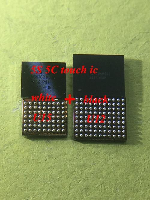 1pair/lot=2pcs U12 white ic + U15 black ic for iPhone 5S 5C touch screen ic chip1pair/lot=2pcs U12 white ic + U15 black ic for iPhone 5S 5C touch screen ic chip