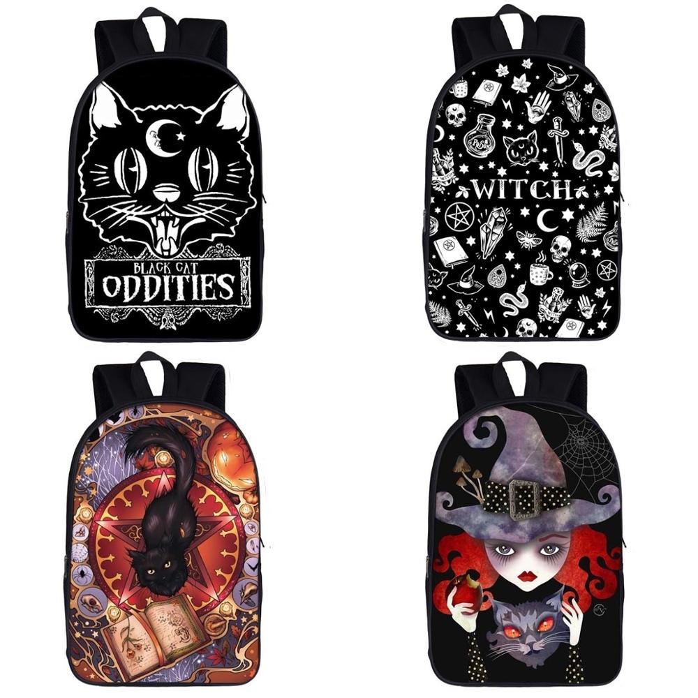 The Witching Hour Backpack For Teenage Boys Girls Children School Bags Black Cat Backpack Kids Book Bag Women Men BackpacksThe Witching Hour Backpack For Teenage Boys Girls Children School Bags Black Cat Backpack Kids Book Bag Women Men Backpacks