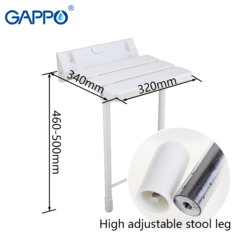 Gappo Wall Mounted Shower Seats Folding Shower Seat Chair Bench Bathroom Toilet Chair Bath Shower Stool Folding Bench Wall Mounted Shower Seats