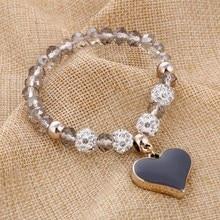 Crystal Butterful Heart Bracelet & Bangle
