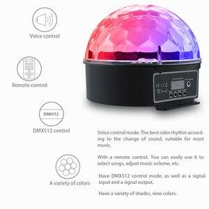 Image 4 - Atotalof DMX etap światła kryształ magiczna kula dyskotekowa RGB lampa sceniczna LED kontrola dźwięku DMX512 oświetlenie na imprezę dla KTV klub Bar ślub
