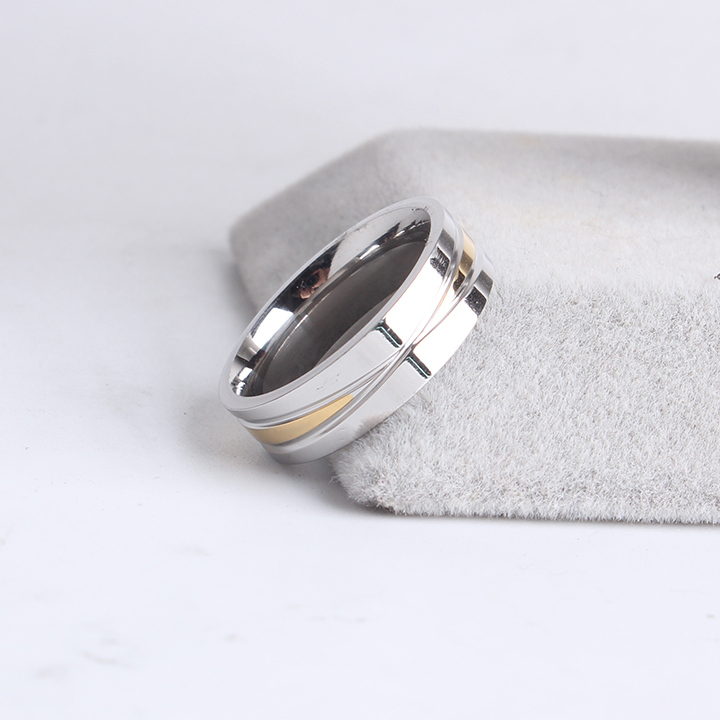 free shipping 6mm gold and silver cross 316L Stainless Steel finger rings for women men wholesale
