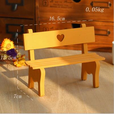Exquisite mini chair with ornaments of wooden handicrafts
