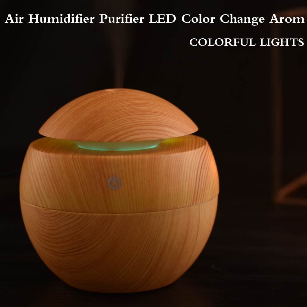 USB Ultrasonic Humidifier Aroma Diffuser Essential Oil Diffuser Aromatherapy mist maker cool mist humidifier 7 color LED Light 2017 new 100ml usb aromatherapy humidifier moistener atomization essential oil diffuser mist maker led light touch button