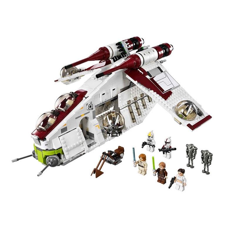05041 Wars on Star Toy 75021 république Gunship Set pour enfants blocs éducatifs cadeau pour garçon
