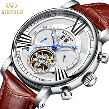 KINYUED Fashion Brand Automatic Watch Mens Mechanical Business Watches Perpetual Calendar Army Military Male Clock reloj hombre