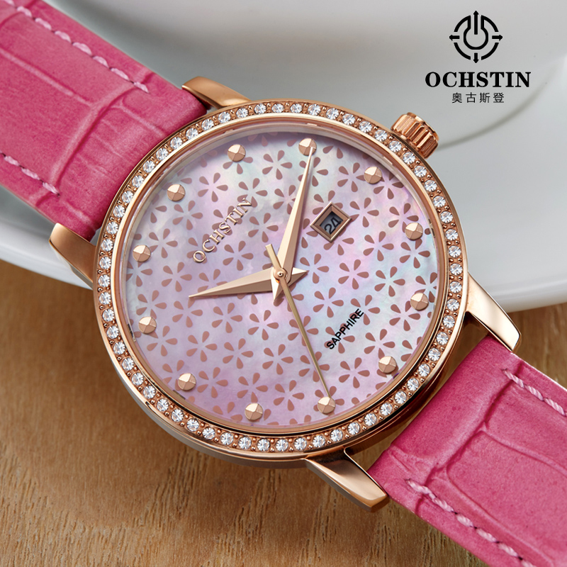 2016 New Elegant Women Watches Ochstin Famous Brand Bracelet Watch Fashion Luxury Ladies Quartz Wrist Watche Relogio Feminino hot relogio feminino famous brand gold watches women s fashion watch stainless steel band quartz wrist watche ladies clock new